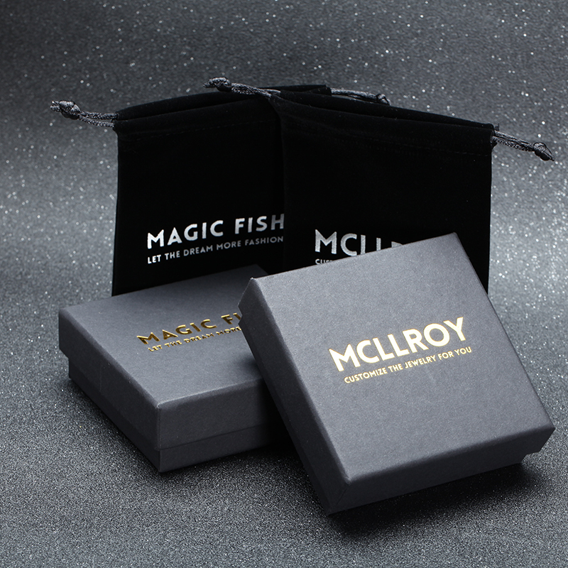 Mcllroy אריזת מתנה עבור יוקרה תכשיטי שרשרת & צמידים & צמידים & טבעות אריזה יכול אישית לוגו שלך ולנטיין סיטונאי