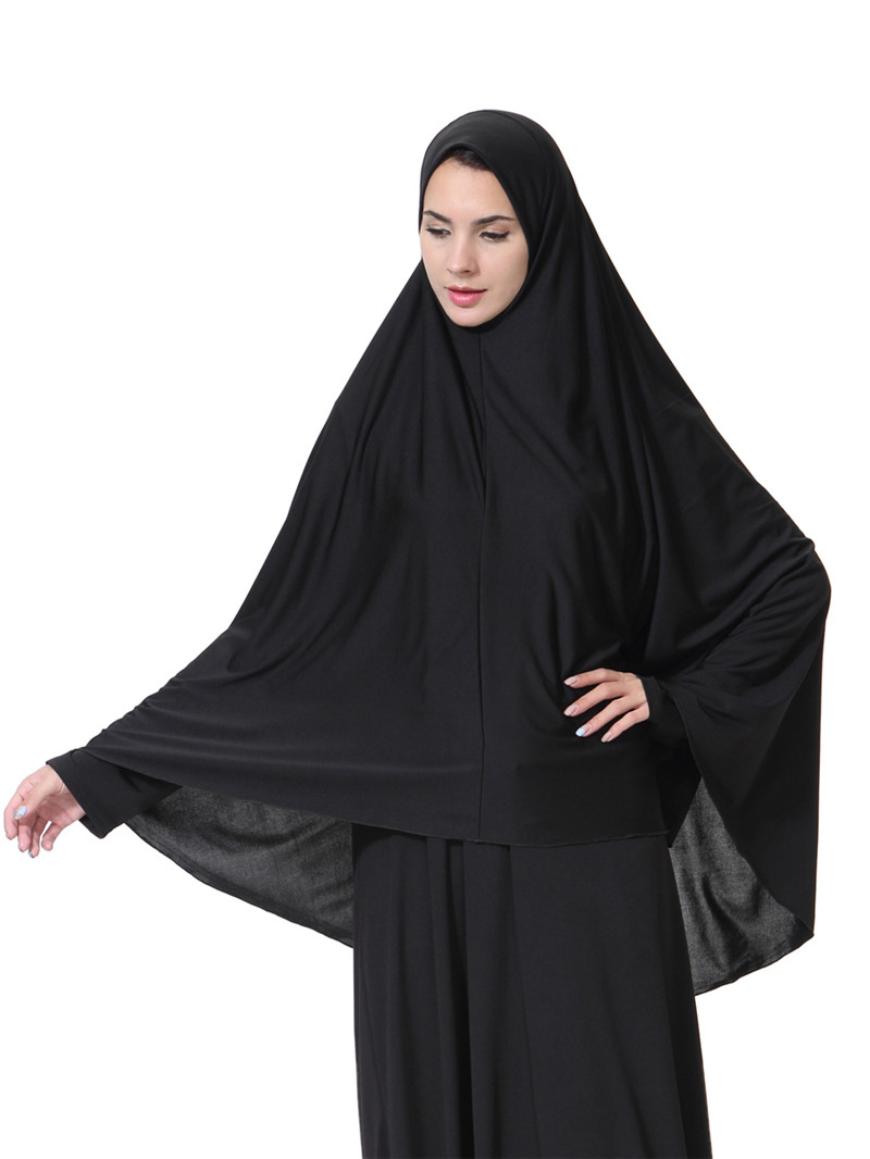 Women 39 s Prayer clothing Black Arabian Women long muslim hijab hat islamic products Headscarf Abaya muslim head scarf in Islamic Clothing from Novelty amp Special Use