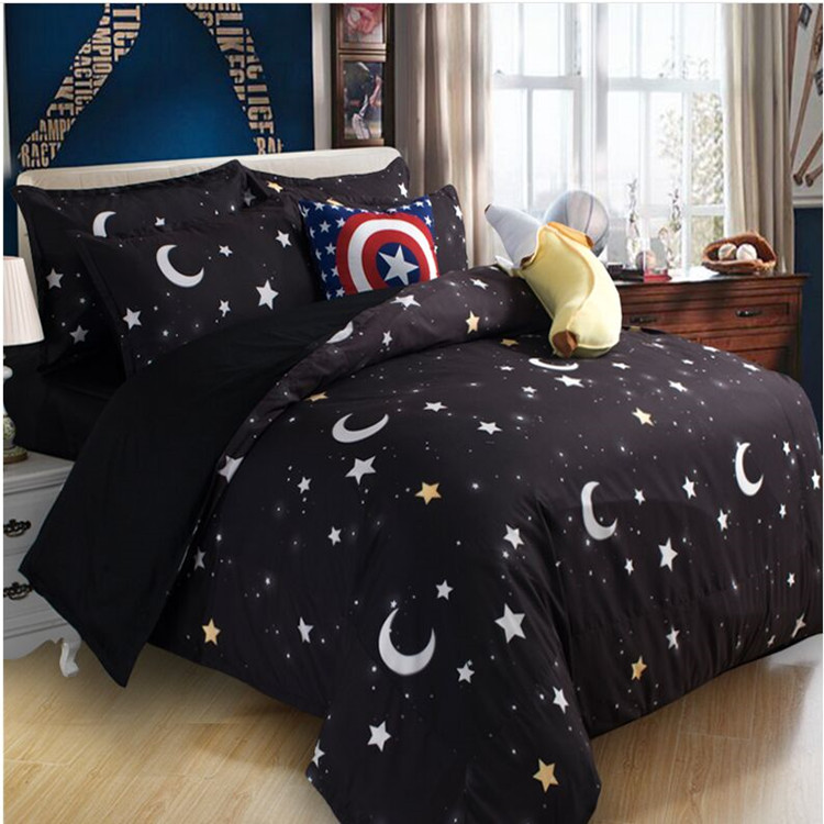 Free Shipping Earth Star Moon Galaxy Bedding Set Without