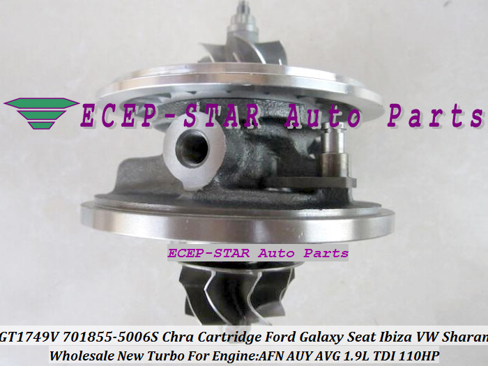 Turbo CHRA Cartridge GT1749V 701855-0006 701855-0004 701855-0002 701855 For Volkswagen VW Sharan Galaxy Seat Ibiza AFN AVG 1.9L