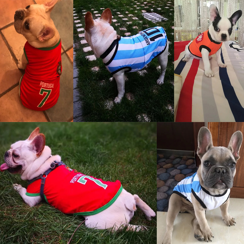 3b70ce3398f9 Sport Dog Clothes Cotton Pet T Shirt Clothing For Pug French Bulldog Summer  Big Dogs Shirts Vest Football Jersey Outfits XS 6XL-in Dog Coats & Jackets  from ...
