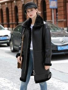 Image 1 - OFTBUY réel manteau de fourrure veste dhiver femmes Double face fourrure en cuir véritable manteau naturel fourrure de mouton épais chaud Streetwear vêtements dextérieur