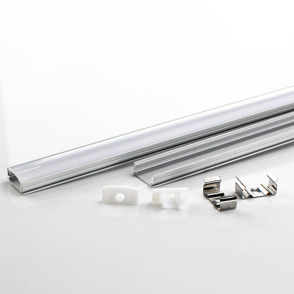 DHL 1 m LED strip aluminum profile for 5050 5630 LED hard bar light led bar aluminum channel housing with cover end cover цена