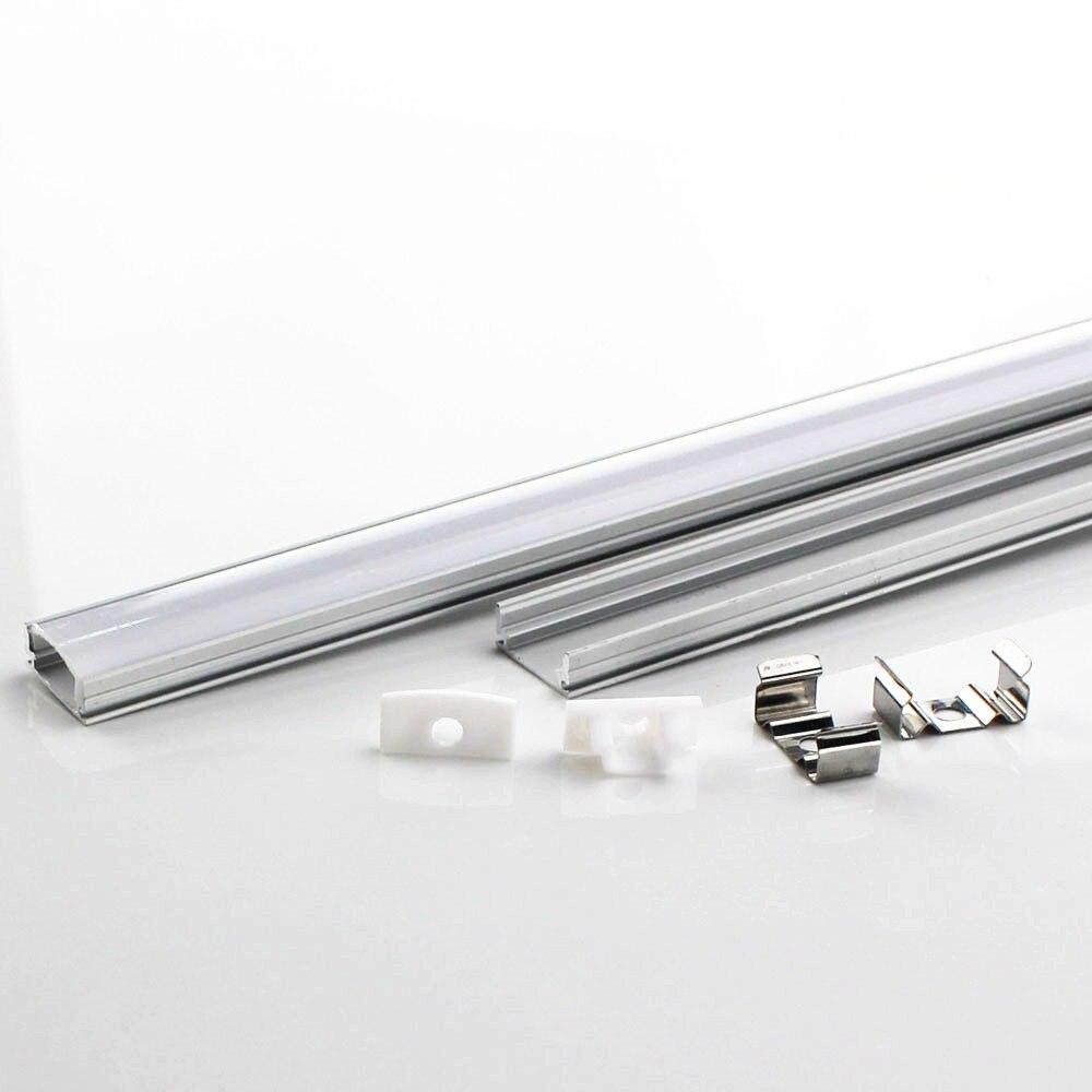 Perfil de aluminio de tira LED de 1 m con DHL para barra de luz LED resistente 5050 5630, carcasa de canal de aluminio con cubierta Tira LED RGB 5050 resistente al agua DC 12V 5M RGBW RGBWW tiras de luz LED Flexible con 3A de potencia y Control remoto