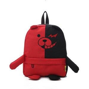 Image 2 - Anime Danganronpa Dangan Ronpa Monokuma Nylon sac à dos grande capacité étudiant sac décole Mochila Feminina voyage sac à dos
