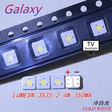 50 шт. люмен светодиодный 3535 световые бусины холодный белый высокой мощности 2,4 Вт 3 в для светодиодный ЖК-Телевизор подсветка Applicatio