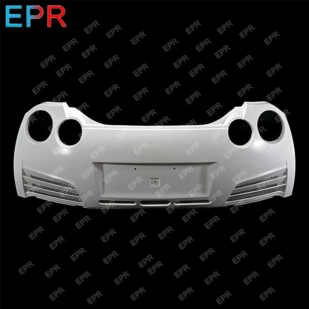For Nissan R35 GTR VRS Style 14' Version Glass Fiber Rear Bumper Body Kit Car Tuning Part GTR R35 Fiberglass Varis Rear Bumper