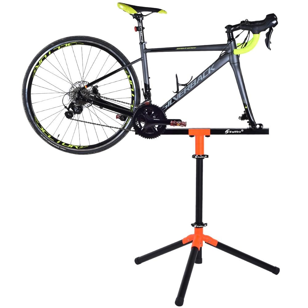 SWTXO professionnel しなやかな vélo réparation サポート en alliage d'aluminium réglable サポート砦 60 キロ充電注ぐ vélo デ rou -