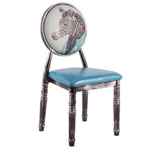New Sillas Nordicas Europe Iron Dining Chair Antique Makeup Chaise Stool Waterproof Nordic Chairs For Home Dining Folding Chair(China)