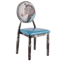 New Sillas Nordicas Europe Iron Dining Chair Antique Makeup Chaise Stool Waterproof Nordic Chairs For Home Dining Folding Chair