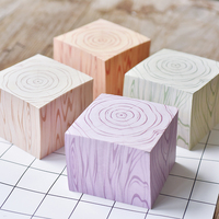 Super Thick 600 Sheets Memo Pad Sticky Notes 90 90mm Creative Wood Annual Ring Design N