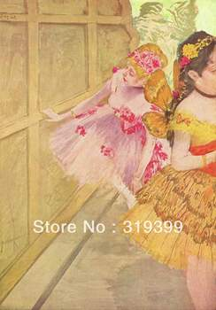 Oil Painting Reproduction on Linen Canvas,dancer against a stage flat by edgar degas,Free DHL Shipping,handmade,Top Quality