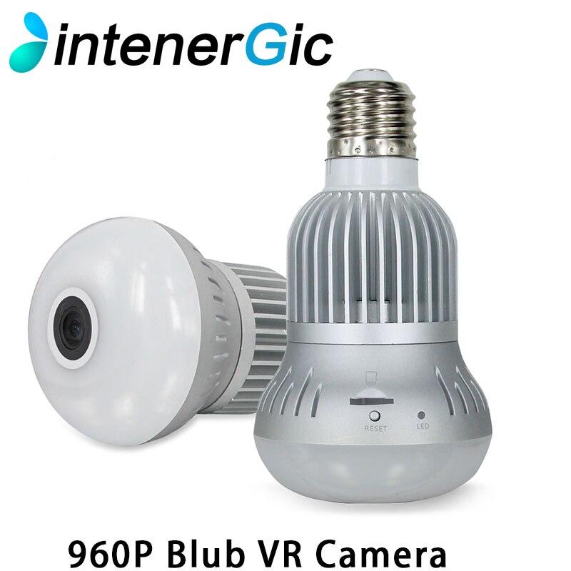 960P 360 degree Wireless Bulb Light IP Camera Wi-fi FishEye VR Mini CCTV Camera 1.3MP Home Security WiFi Camera