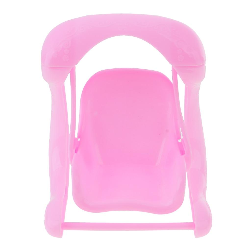 dollhouse miniatura muebles silla columpio de plstico casa de muecas decoracin de imitacin classic para barbie