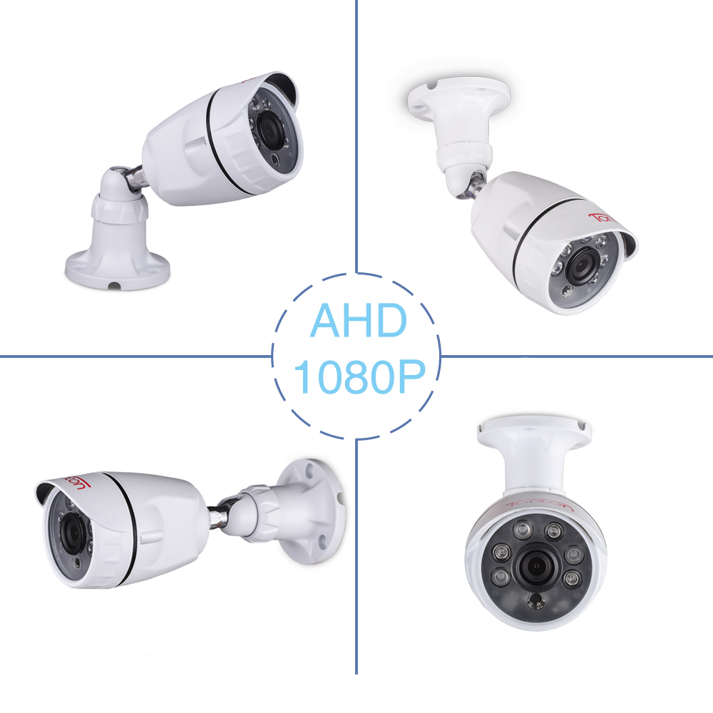 Tonton 4pcs lot 1080P AHD Bullet CCTV Security Camera 82ft Night Vision Outdoor Weatherproof Surveillance Camera