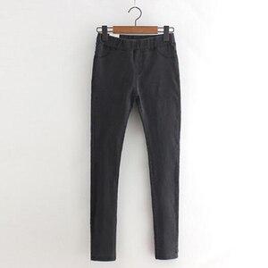 Image 3 - Rihschpiece 2018 Herfst Jeans Leggings Vrouwen Punk Black Jeggings Hoge Taille Broek Slanke Push Up Legging RZF1352