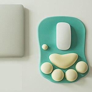 Image 2 - 3D かわいいマウスパッドアニメソフト猫足マウスパッドリストレストサポート快適シリコン低反発マウスパッドマット