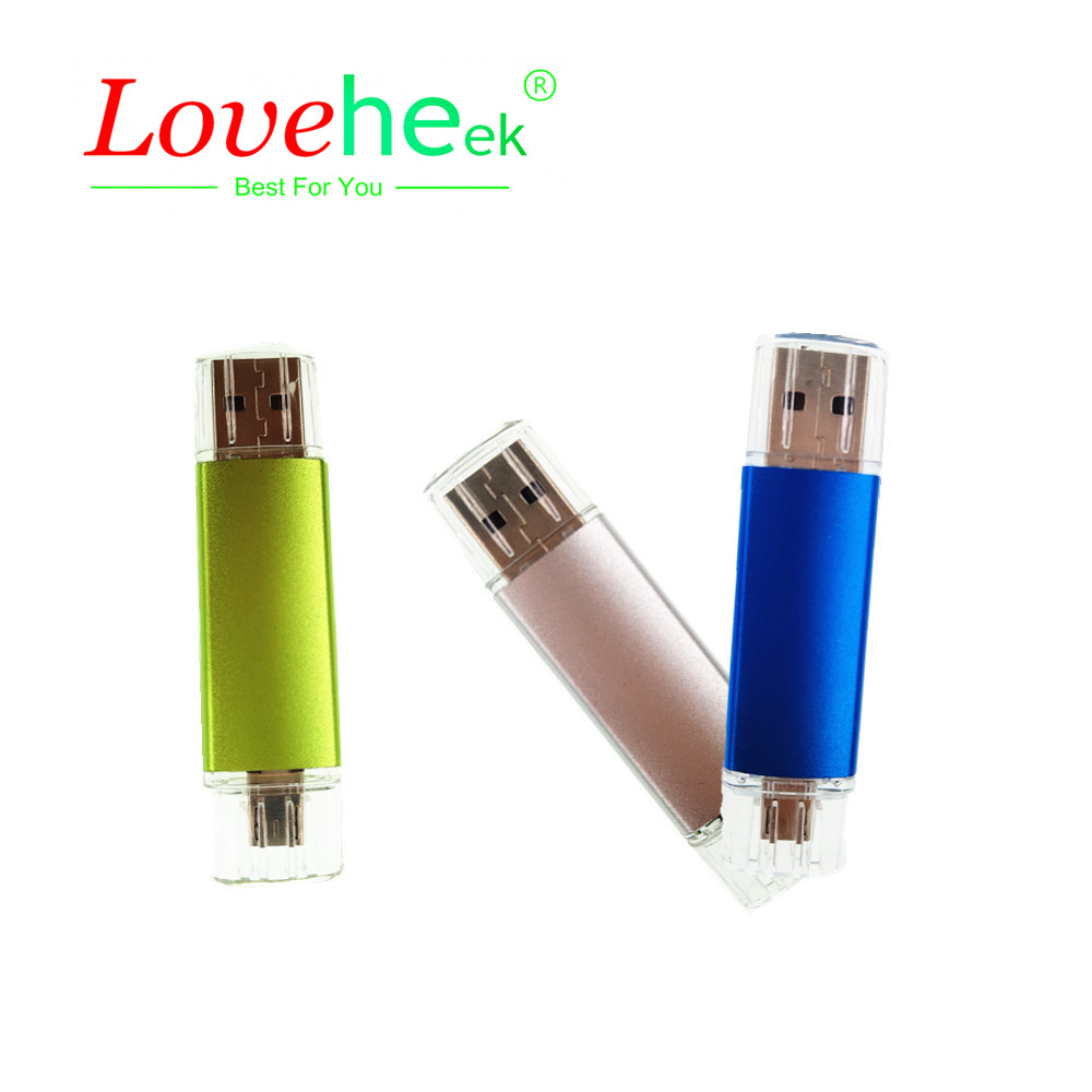 2018 Fashion Usb 2.0 Creativo Pen drive/Retail OTG micro usb Smart Phone USB Flash Drive/Disk/Thumb/Gift LOGO S245