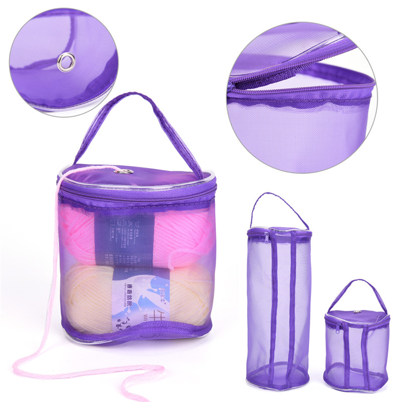 Mesh Sewing Kit Bag DIY Hand Weaving Tools Organizer Hollow DIY Hand Weaving Yarn Bag Cr ...