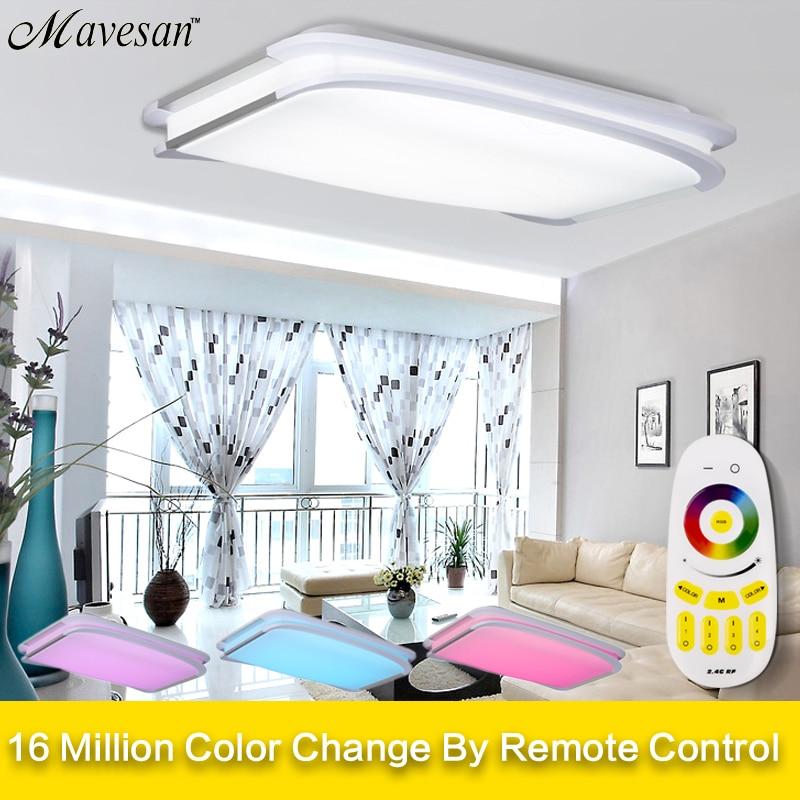 Moderne Plafonniers chambre à distance ou commutateur Plafond lampes pour salon pour 15-30square mètres 90 v-260 v plafonnier