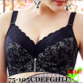Big Breast Minimizer Bra Plus Size Push Up Full Cup Thin Adjustable Minimizer Bras 34 36 38 90 42 44 105CDEFGHIJ Free Shipping