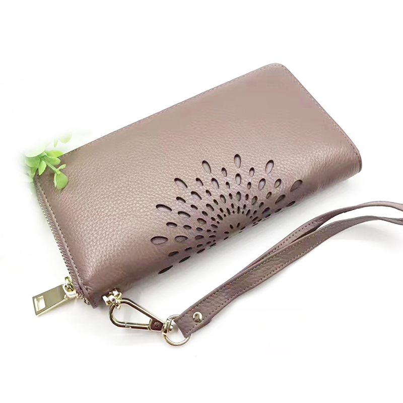 2018 Real Genuine Leather Women Wallets Brand Design High Quality Cell phone Card Holder Long Lady Wallet Purse Clutch contact s luxury brand women wallets genuine leather 2018 new long design ladies purse clutch bag card cell phone holder wallet
