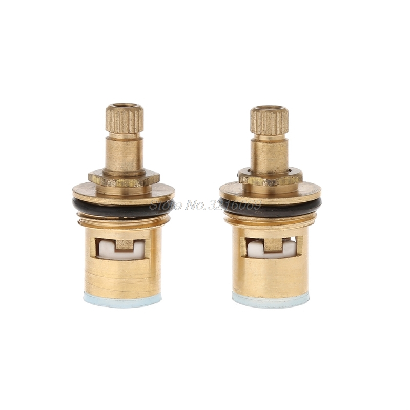 2pcs Standard 1/2 Ceramic Faucet Cartridge Water Mixer Tap Inner Faucet Disc Valve Quarter Turn Cartridges Oct29 Drop Ship