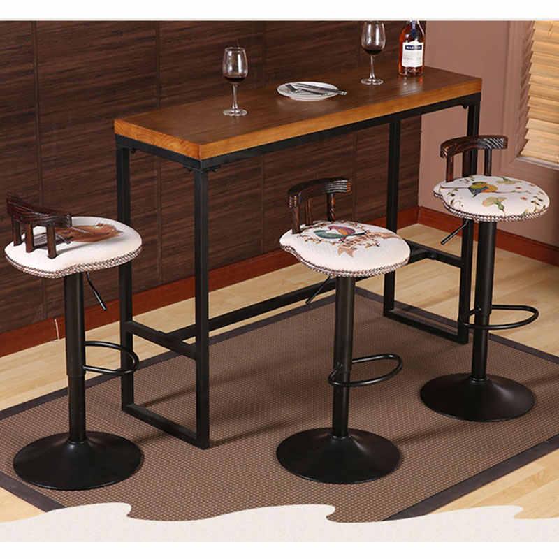 Железный барный стул в европейском стиле, барный стул с подъемником, высокий табурет для ног, домашний стул со спинкой, кухонный барный стул, кофейная мебель