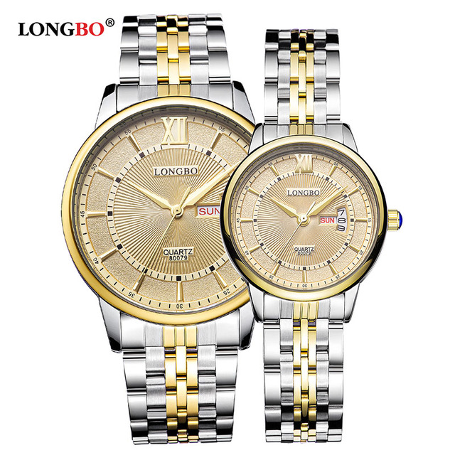 Men/Women's Simple Casual Style Stainless Steel Watchband Round Dial Date Calend