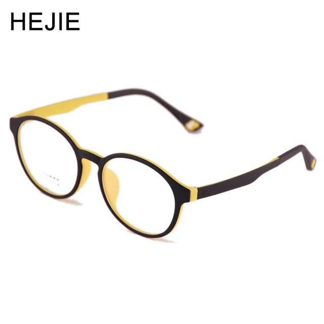 eb57f4d30f Hejie niños ultem marcos de anteojos ópticos doble colores elástico templo  borde completo para Niñas Niños