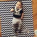 Ropa de los muchachos del verano del bebé recién nacido traje de algodón niños lindos ropa conjunto bebé-bebé reborn bebes kleertjes infantil niños ropa