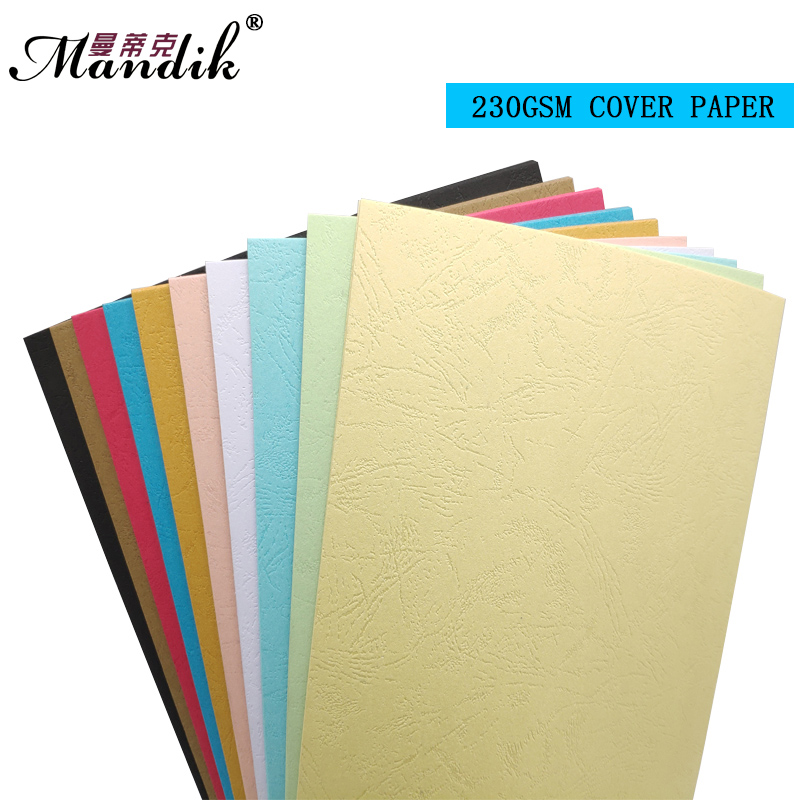 Fashion Office Stationary Dermatoglyph Paper 230gsm A4 Color Embossed Cover Paper For Book