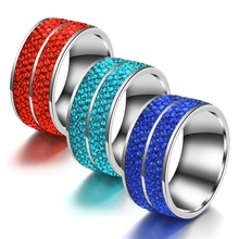 FairLadyHood  New Six - Row Zicorn 11mm Wide Version Of Men And Women tainless Steel Ring Stainless