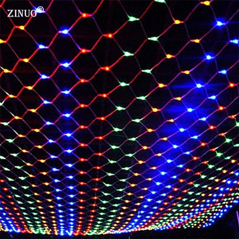ZINUO AC220V 4Mx6M 750 LED Net String Lights Outdoor Christmas Fairy String Light For Xmas Holiday Wedding Party Decoration