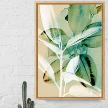 Wall Art Canvas Painting Watercolor Green Plant Leaves Abstract Nordic Posters And Prints Pictures For Living Room