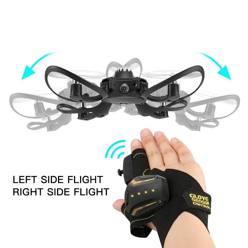 2019 new original W606-16 Valcano gants contrôle interactif mini drone quadrirotor Wifi FPV 480 P Caméra hélicoptère rc - 4