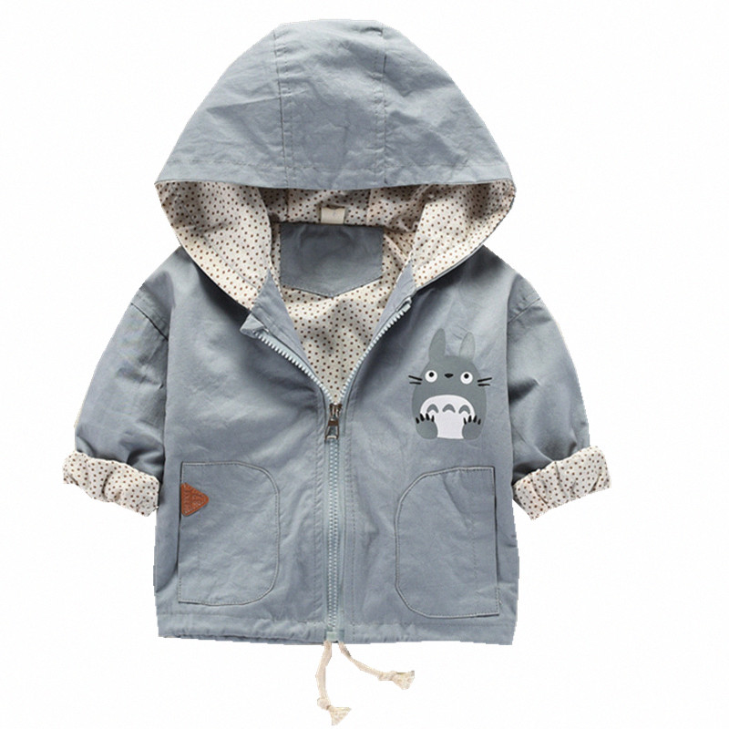 Jacket Coat Long-Sleeve Totoro-Pattern Baby-Girl Boys Hooded Autumn for Kid Cartoon 3-24m/bebes-Coats title=