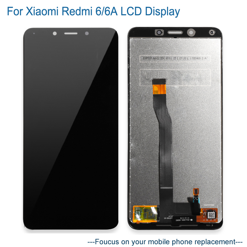 LCD Display For Xiaomi Redmi 6 6a + TouchScreen Digitizer Assembly Replacement LCD Screen For Xiaomi Redmi 6 6a Mobile PhoneLCD Display For Xiaomi Redmi 6 6a + TouchScreen Digitizer Assembly Replacement LCD Screen For Xiaomi Redmi 6 6a Mobile Phone