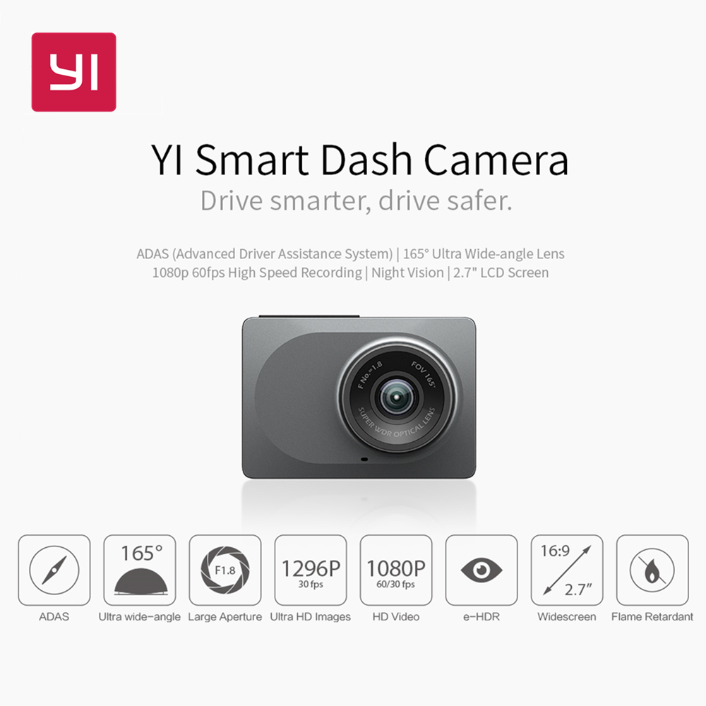Yi Smart Dash Camera Wifi Car Dvr Night Vision Hd 1080p 27 165 Xiaomi Dome Home Cctv 360 International Mmc 32gb Degree 60fps Adas Safe Reminder Official Store In Sports Action Video Cameras From