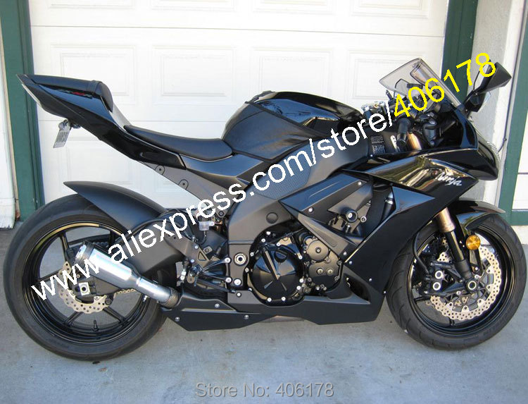 Hot Sales,For Kawasaki Parts ZX-10R 08 09 10 Fairing Kit Ninja ZX10R 2008 2009 2010 ZX10 Motorcycle Fairings (Injection molding) black moto fairing kit for kawasaki ninja zx14r zx 14r zz r1400 zzr1400 2006 2007 2008 2009 2010 2011 fairings custom made c549
