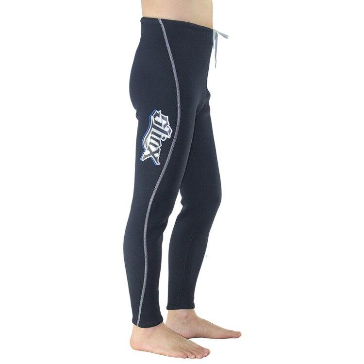 Slinx 3MM Neoprene Diving Pants For Men Winter Swimming Running Sailing Surfing Wetsuit Material Keep Warm Black Swim Beach Pant