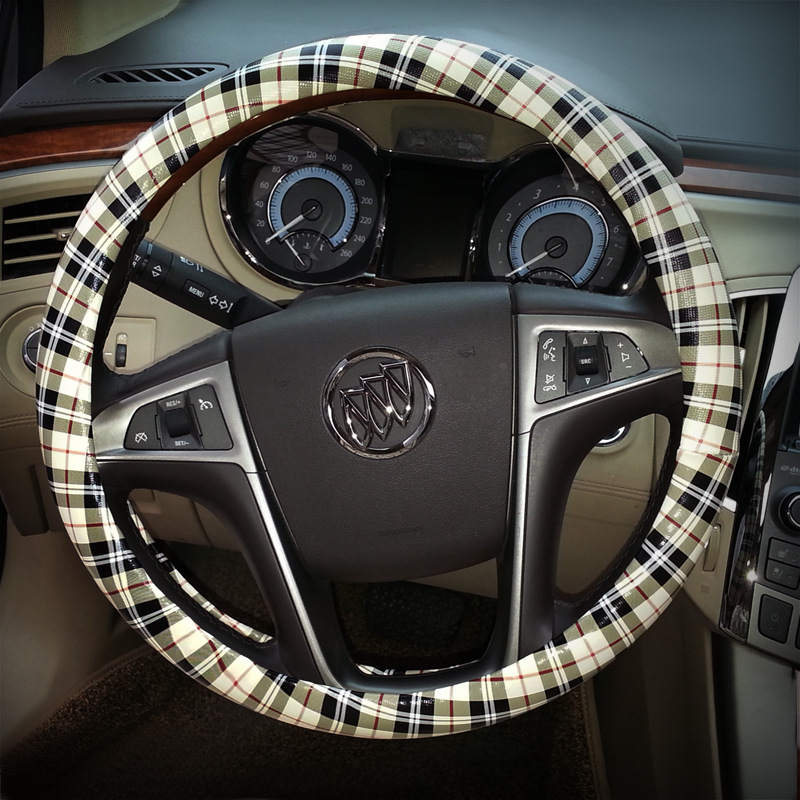 2018 Lancer X New Wholesale Fashion Vintage Car Steering Wheel Cover Milan Leather Upholstery Automotive Interior Accessories
