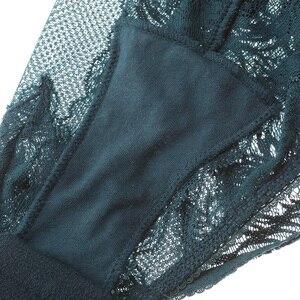 Image 5 - תחרה בגד גוף נשים מרופד חזיית נוצת דפוס Underwire Lingere femme לדחוף את מלכת 3 צבעים סקסי ערכות הלבשה תחתונה ארוטית דובונים