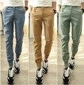 Мужчины брюки 2016 новая коллекция весна/лето человек талии шаровары мужской pantalones брюки Тонкий вскользь хлопок Jogger брюки M28