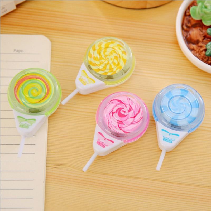 Creative Cute Kawaii Plastic Lollipop Pencil Sharpener For Kids Gift Novelty Item School Supplies Student 3101