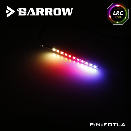 BARROW Aurora 5V GND RGB Light 3Pin to Motherboard AURA Support 150mm / 200mm / 260mm <font><b>T</b></font>-<font><b>Virus</b></font> Cylindrical <font><b>Water</b></font> Coolant Tank image