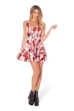 2017 Summer Dress Feminina Casual Vintage Print Tropical Fashion Women Show Thins Elastic Sexy Sleeveless Vestidos Women Dress