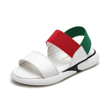 Сандалии на плоской подошве для мальчиков и девочек, летние водонепроницаемые сандалии, пляжная обувь для маленьких детей, 2019