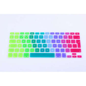 "15X Rainbow Portuguese Silicone Keyboard cover Skin For Macbook Air 13.3"" keyboard protector for Macbook Air 13, pro 13,15"