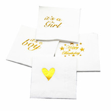 5Ps/pack Wedding Decoration Table Centerpieces Team Bride Decoupage Paper Napkin Baby Shower Boy Girl Birthday Party Decorations